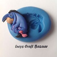 Silicone Mould Disney Eeyore Winnie The Pooh Gumpaste Cupcake Topper Decorating