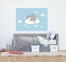 Wandbild Tapete Dumbo 160x110cm Kinderzimmer Schlafzimmer Disney Fototapete Blau
