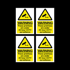 CCTV Sign, Sticker Pack of 4 - 75mm x 100mm (A7) - Security, Camera - (MISC12)