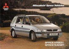 Mitsubishi Space Runner & Space Wagon 1996-98 UK Market Sales Brochure