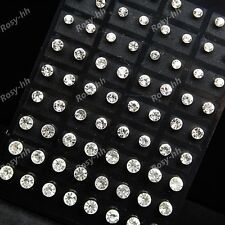 Wholesale jewelry lots 72pcs stainless steel Czech rhinestone fashion Earrings