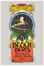 The Beach Boys at the Sacramento Memorial Poster 1973