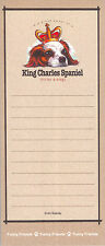 KING CHARLES SPANIEL Cavalier Dog Funny Friends Magnetic NOTEPAD List Pad