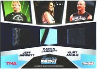 TNA Jeff Karen Jarrett Kurt Angle 2011 Impact Relic /25
