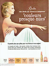 PUBLICITE ADVERTISING 026  1964  Revlon  maquillage  vernis ongles couleurs nues