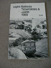 Vintage Light Railway Timetables & Guide 1969