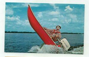 "Fl Cypress Gardens Florida vintage post card - ""Corky The Clown"""
