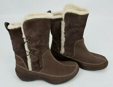 Columbia Womens Delancey Brown Leather Winter Boots Water Resistant Size 6.5
