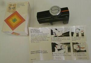 Polaroid SX-70 Film Camera #132 Self-Timer +Box & Instruction Sheet TESTED