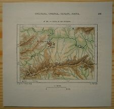 1883 Perron map PUNE POONA AND VICINITY, MAHARASHTRA, INDIA (#109)