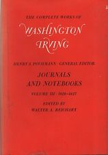 WASHINGTON IRVING - THE COMPLTE WORKS, VOLUME III - JOURNALS & NOTEBOOKS (1970)