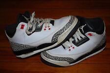 Air Jordan 3 III Retro Infrared (GS) Kids Sneakers (5Y) 398614-123 Cement