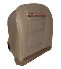 2001 Ford F250 F350 Lariat Driver Bottom Leather Perforated Vinyl Seat Cover TAN