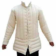 Halloween White Medieval Gambeson Jacket Padded Armor Sca Larp Wma Multiple Size