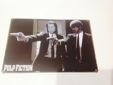 PULP FICTION gangsters Man cave art movie star Hollywood Sign Tin Plaque PICTURE