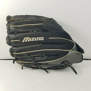 "Mizuno 13"" GBL 1300 Blur Quick Bands Black Baseball Softball Glove RHT"