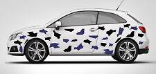 CAR CAMO KIT GRAPHICS VINYL DECALS STICKERS CAMOUFLAGE VINYL Black&Blue