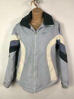 WOMENS O'NEILL PALE BLUE/WHITE ZIP UP WATERPROOF WINTER SKI COAT JACKET SMALL S