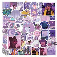 UK Cartoon Small Fresh Graffiti Stickers Flask 50Pc Purple Sticker Aesthetic NEW