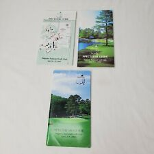 Vintage Masters Golf Tournament Spectator Guides Augusta National 1998 1999 2000