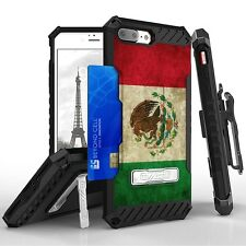 For iPhone 8 Plus,7 Plus Armor Tri Shield Protector Clip Case Mexican Flag
