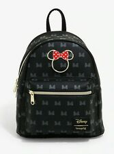 Official Loungefly Disney Minnie Mouse Icon Mini Backpack Bag New