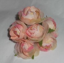 b PINK Millinery felt silk CABBAGE ROSES 6 flower bunch Cissy doll hats /& crafts