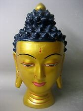 Hand painted pottery figure of Buddha