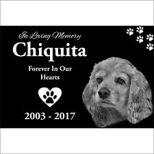 Personalized Pet Headstone, tombstone Laser Engraved on the Grave Marker