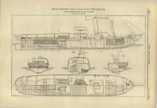 1883 Twin Screw Tugboat For The Rhine Sachsenberg Rosslau