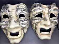Venetian Cry & Laugh Comedy Tragedy Renaissance Faire Costume Masks