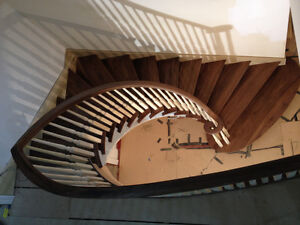 Walnut staircase site measurement and design service!