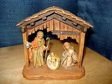 Italy Nativity Manger with Creche Joseph Mary Baby Jesus Numbered 19