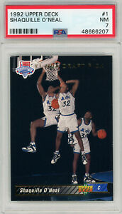 1992 Upper Deck Shaquille Oneal RC Rookie PSA 7 NM #1