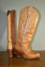 WOMEN'S BROWN LEATHER MISS CAPEZIO WESTERN COWBOY BOOTS SZ 5.5 MADE IN USA