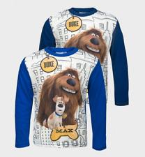Secret Life of Pets Long sleeved Boys T-Shirt Top 3 4 5 6 7 8 Years Duke & Max