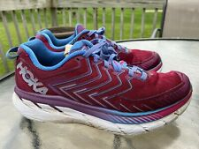 Hoka One One Clifton 4 Women's Running Shoes Cranberry Red Size 8.5