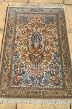 Persian Isfahan Esfahan silk and wool handmade hand knotted rug 112 x 72 cm