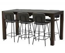 7 Piece Dining Set / Bar Table And Stools Set / Outdoor Bar Set With Stools