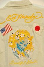 Ed Hardy Embroidered Sukajan Japan Beautiful Ghost Military Shirt Jacket