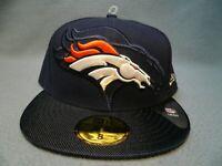 New Era 59fifty Denver Broncos Sideline Sz 8 BRAND NEW Fitted cap hat NFL