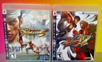 Virtua FIghter 5 + Street Fighter IV -  Game Lot PS3 Sony Playstation 3 Tested