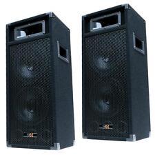 "2x 500W DJ PA PARTY LAUTSPRECHER PAAR Disco Boxen doppel 20cm/8"" Bass PW220 NEU"