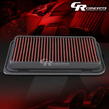 RED WASHABLE HIGH FLOW AIR FILTER FOR 03-08 TOYOTA COROLLA/MATRIX 13-16 86 GT
