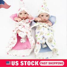 "Lifelike Twins Baby Dolls Full Vinyl Silicone Real Life Doll Babies Girl Boy 10"""