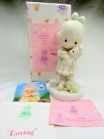 Precious Moments Figurine Loving Members Only PM932 Girl & Teddy Bear