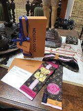 NEW IN BOX LOUIS VUITTON SUMMER TRUNK 100% Silk Scarf Bandeau + RECEIPT
