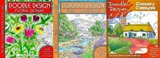 DOODLE DESIGN __ 3 BOOK SET __ ADULT COLOURING BOOK __ BRAND NEW __ FREEPOST UK