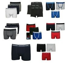 New Mens Latest FCUK French Connection Underwear Boxers Sporty Trunks 3 Pack