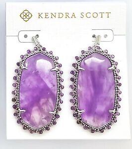 New KENDRA SCOTT Fashion Beaded Danielle Drop Earrings 513 Purple Amethyst